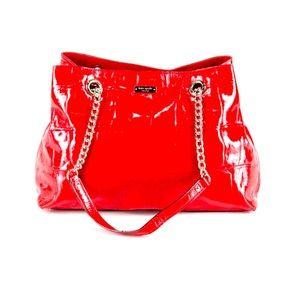 Kate spade x Darcel ♠️ red leather shoulder bag